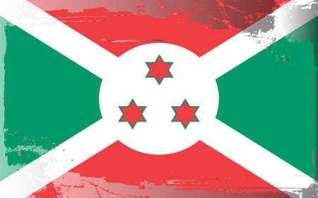 burundi: Grunge flag series: Burundi Illustration