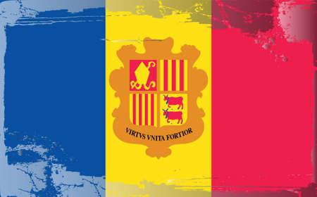 andorra: Grunge flag series: Andorra Illustration