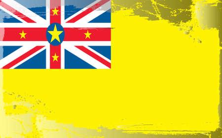 niue: Grunge flag series: Niue Illustration