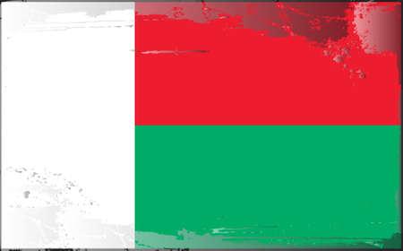 madagascar: Grunge flag series: Madagascar