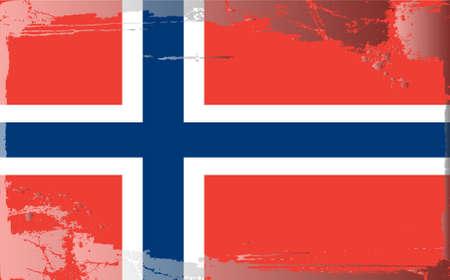 Grunge flag series: Norway Vector