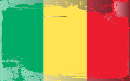 Grunge flag series: Mali Vector