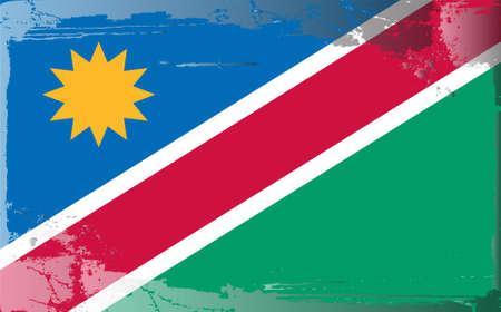 namibia: Grunge flag series: Namibia