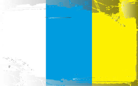 canary islands: Grunge flag series: Canary Islands