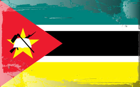 battered: Grunge flag series: Mozambique