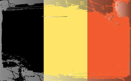 belgium flag: Grunge flag series: Belgium Illustration