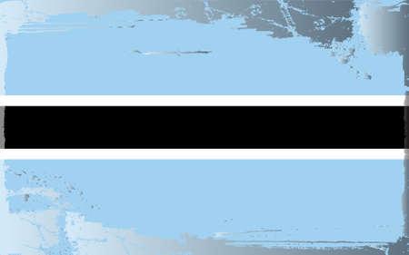 botswana: Grunge flag series: Botswana