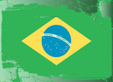 brasilia: Grunge flag series: Brasilia