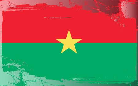 burkina faso: Grunge flag series: Burkina Faso Illustration