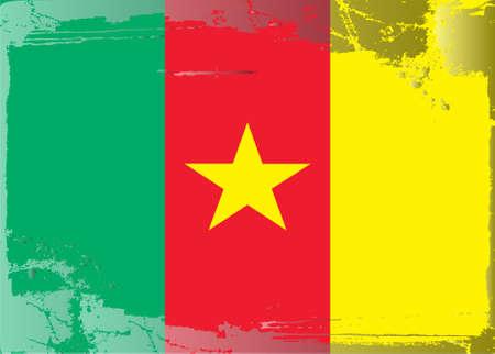 cameroon: Serie di bandiera grunge: Camerun