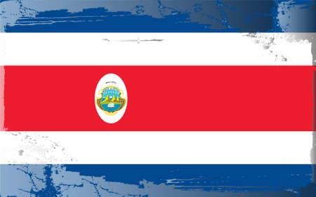 costa rica flag: Grunge flag series: Costa Rica Illustration