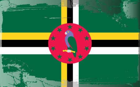 dominica: Grunge flag series: Dominica Illustration