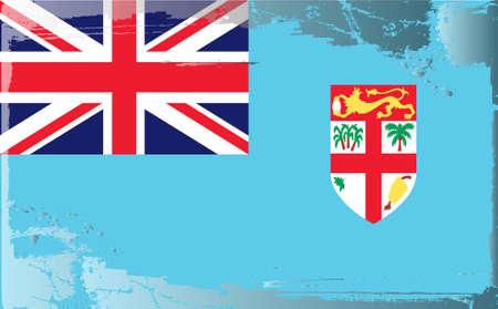 fiji: Grunge vlag serie: Fiji