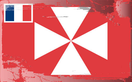 wallis: Grunge flag series: Wallis and Futuna