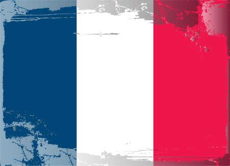 Grunge flag series: France Stock Vector - 10480000