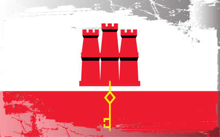 gibraltar: Grunge flag series: Gibraltar
