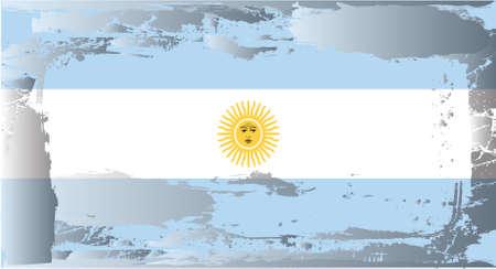 bandera argentina: Serie de bandera grunge: Argentina