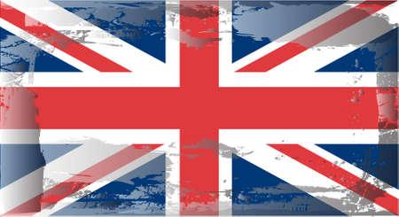 battered: Grunge flag series:England