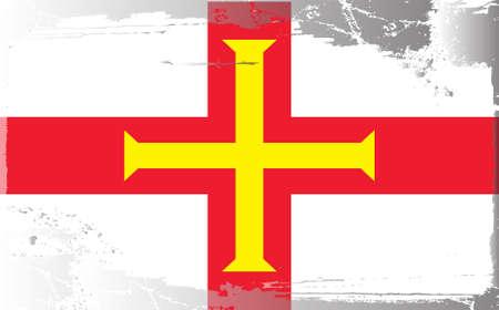 guernsey: Grunge flag series: Guernsey Illustration