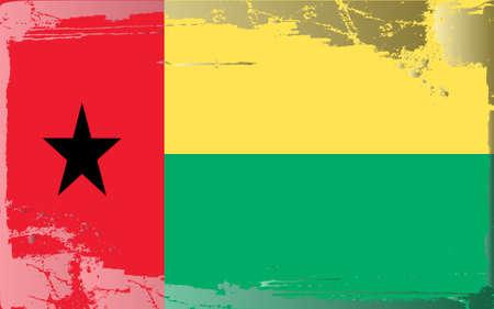 guinea bissau: Grunge flag series: Guinea-Bissau