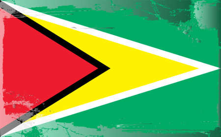 guyanese: Grunge flag series: Guyanese Illustration