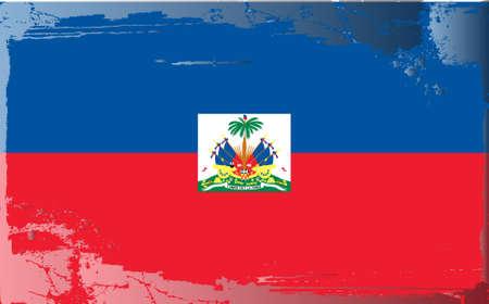 haiti: Grunge flag series: Haiti Illustration