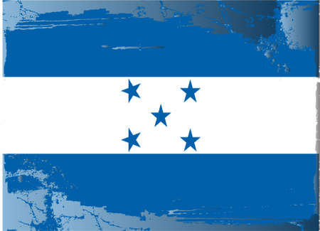 bandera honduras: Grunge bandera de la serie: Honduras