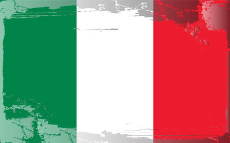 Grunge flag series: Italy Vector