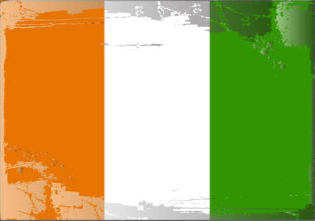 Grunge flag series: Ivory Coast Stock Vector - 10479988