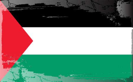 jordan: Grunge flag series: Jordan Illustration