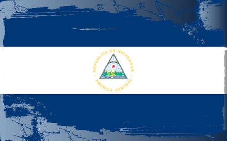 Grunge flag series: Nicaragua Vector