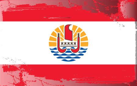 Serie di bandiera grunge: Polinesia