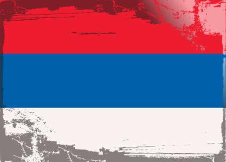 serbia flag: Grunge flag series: Serbia Illustration