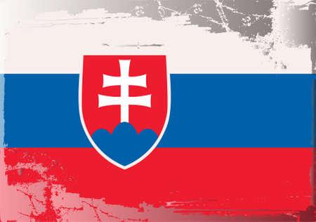 slovakia flag: Grunge flag series: Slovakia Illustration