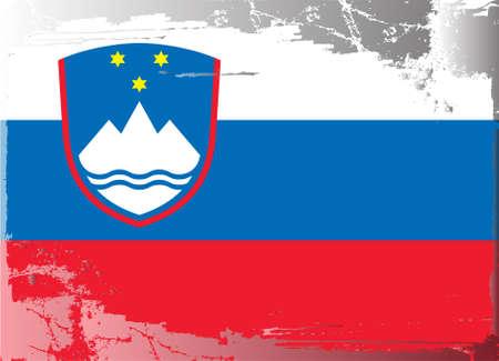 slovenia: Grunge flag series: Slovenia