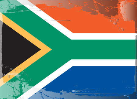 tattered: Grunge flag series: South Africa Illustration