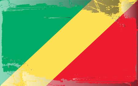 congo: Grunge flag series: republic Congo