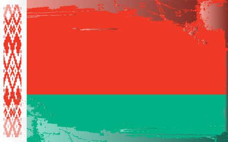 belarus: Grunge flag series:Belarus