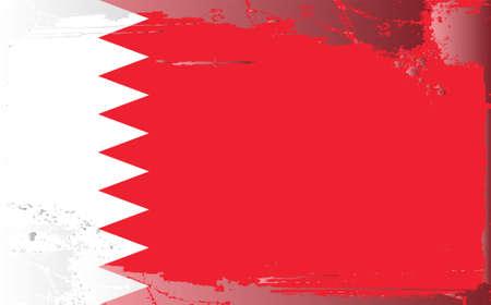 textured paper: Grunge flag series:Bahrain