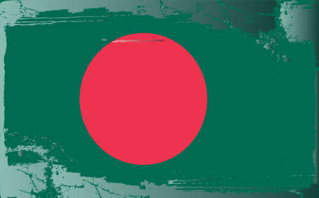 textured paper: Grunge flag series:Bngladesh