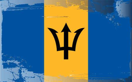 barbados: Grunge flag series:Barbados Illustration