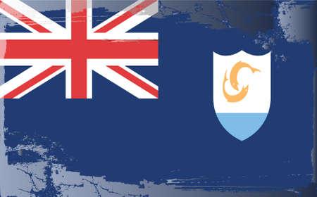 anguilla: Grunge flag series:Anguilla