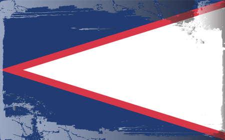 samoa: Grunge flag series: American Samoa