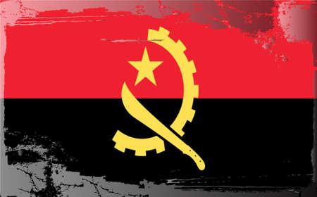 angola: Grunge flag series:Angola