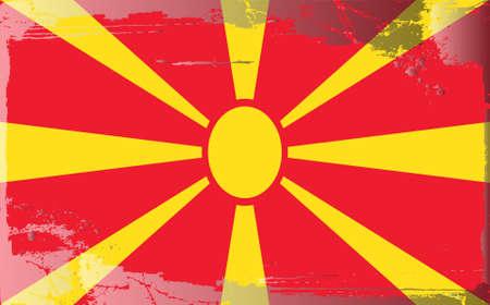 macedonia: Grunge flag series:Macedonia