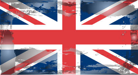 national border: Grunge flag series:England