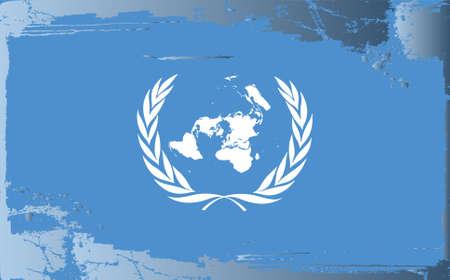 naciones unidas: Grunge bandera de la serie: Naciones Unidas