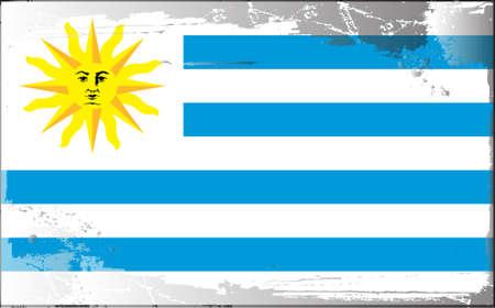 uruguay: Grunge flag series: Uruguay Illustration