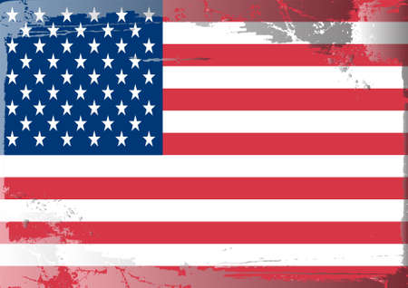 patriotic border: Grunge flag series: USA Illustration
