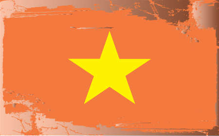 Grunge flag series:Vietnam Vector